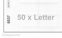 Druckbogen blanko weiß 6037