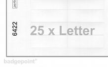 Druckbogen blanko weiß 6422
