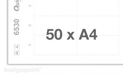 Druckbogen blanko weiß 6530