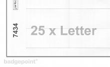 Druckbogen blanko weiß 7434