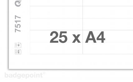 Druckbogen blanko weiß 7517