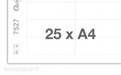 Druckbogen blanko weiß 7527