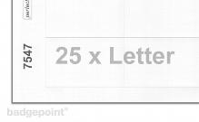 Druckbogen blanko weiß 7547