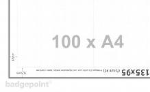Druckbogen blanko weiß 95135