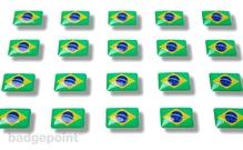 """Flaggensticker """"Brasilien"""""""