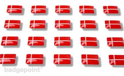 """Flaggensticker """"Dänemark"""""""