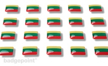 """Flaggensticker """"Litauen"""""""